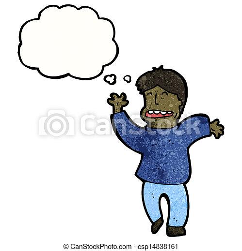 cartoon man thinking - csp14838161