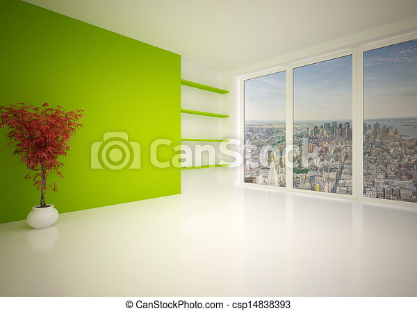 Empty modern interior living room, lounge - csp14838393