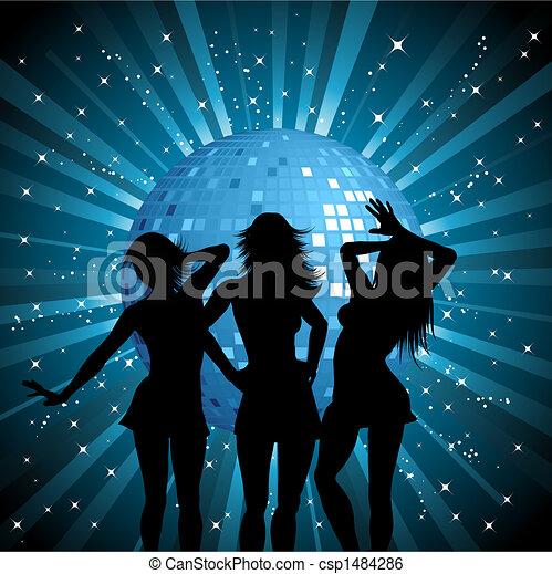 Disco females - csp1484286