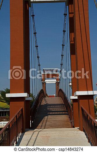 Wire rope bridges. - csp14843274