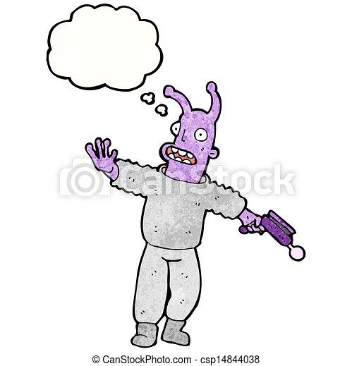 Vector cartoon alien spaceman stock illustration royalty free