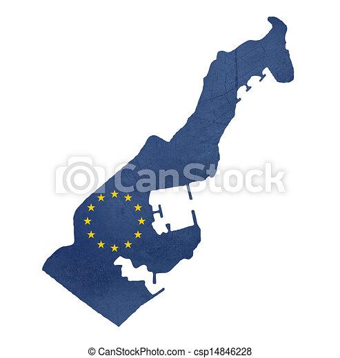 地图, 旗, 欧洲, 摩纳哥 - csp14846228