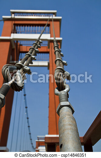 Wire rope bridges. - csp14846351