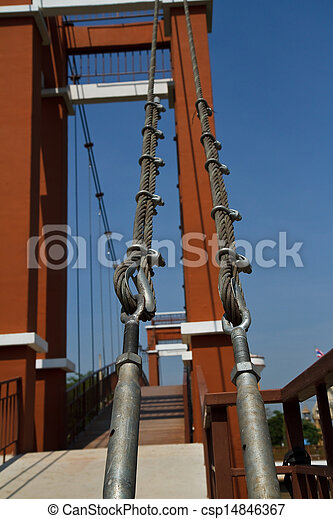 Wire rope bridges. - csp14846367