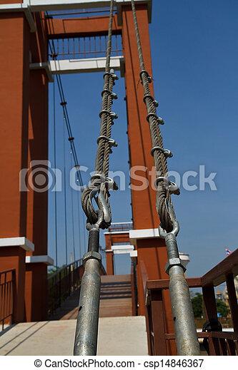 Wire rope bridges. - csp14846367