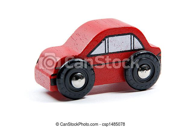 Auto, spielzeug, rotes - csp1485078