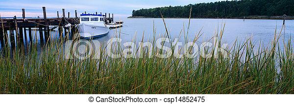 Dock at Broad Cove - csp14852475