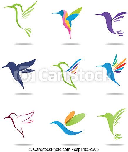 logotipo, colibrí - csp14852505