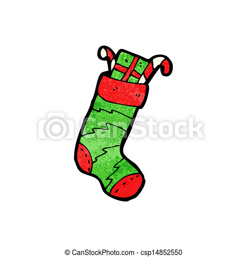 christmas stocking cartoon character - csp14852550