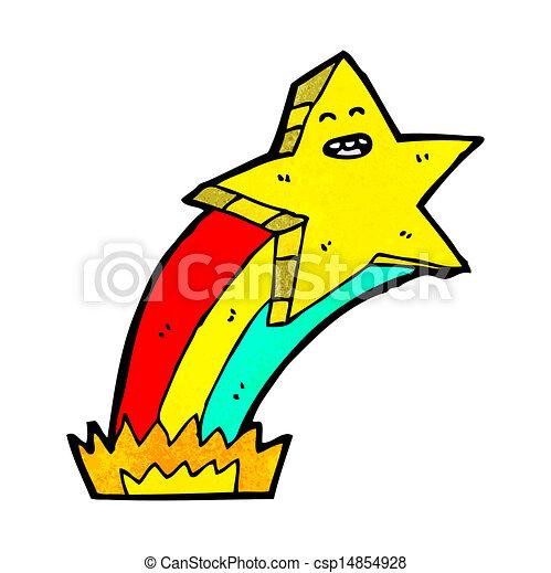 Star Cartoon Drawing Vector Cartoon Shooting Star