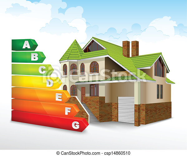 Energy efficiency rating with big house - csp14860510