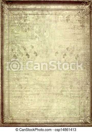Grunge papers design in scrapbooking style with blank for text  - csp14861413