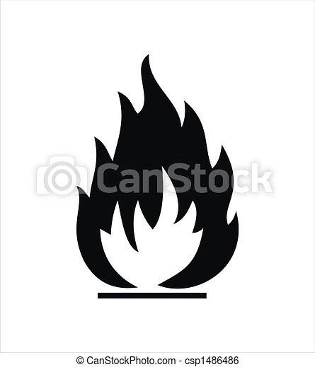 Stock Illustration of Highly Flammable Sign - black highly ...
