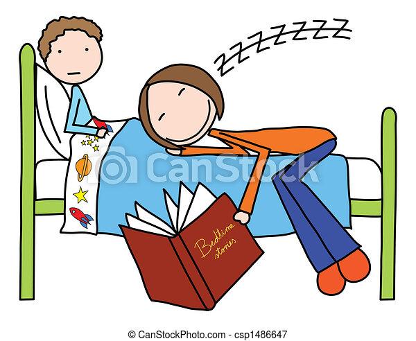 Bedtime Story Clip Art