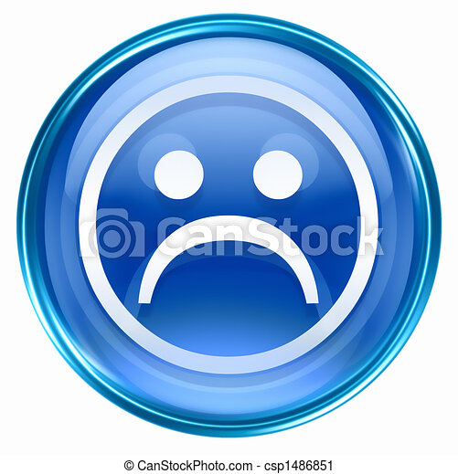 Blue Smiley Face Logo Smiley Face Dissatisfied Blue
