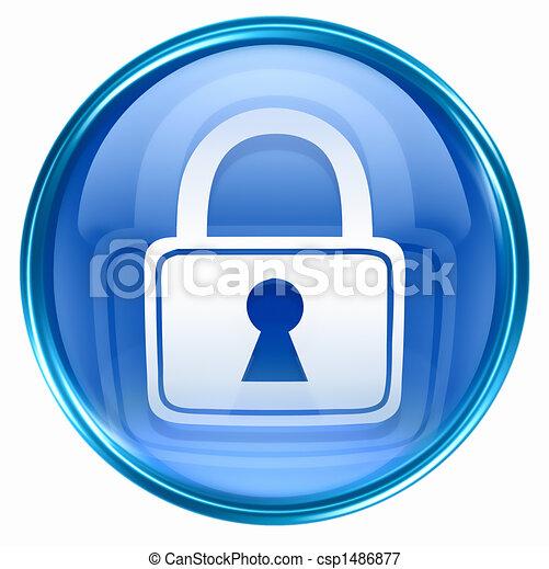 Lock icon blue - csp1486877