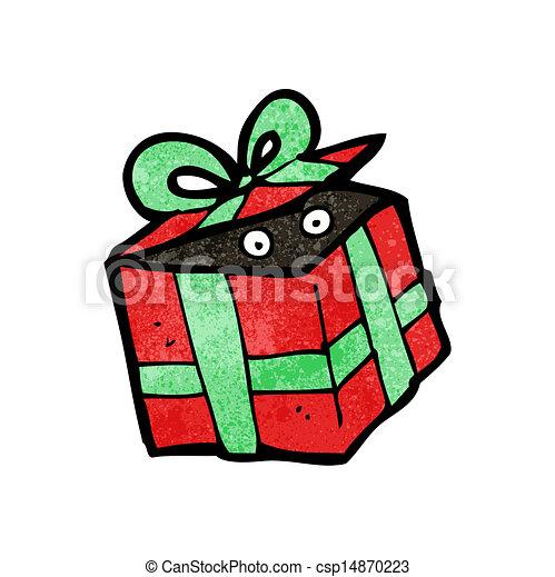 Vector Illustration of cartoon mystery present csp14870223 ...