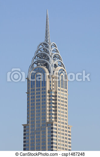 Pictures of Chrysler Building Copy in Dubai csp1487248 ...
