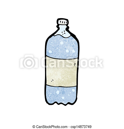 Vector - cartoon water bottle - stock illustration, royalty free ...