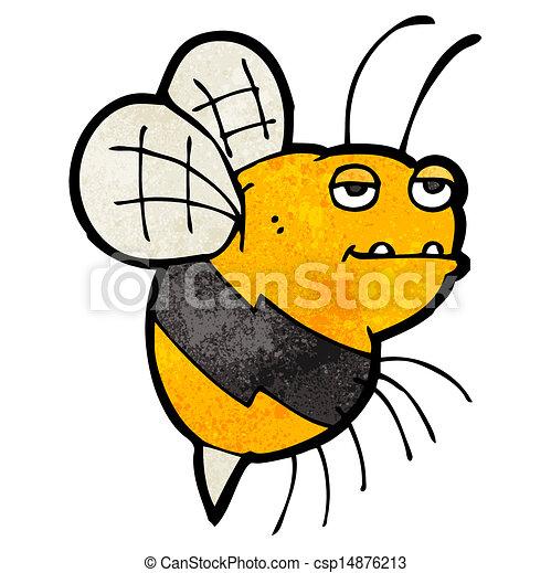 Vector Clip Art of cartoon fat bumble bee csp14876213 - Search Clipart ...