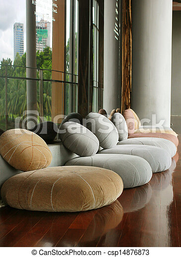 almofada, assento, Quieto, Interior, sala, meditação - csp14876873