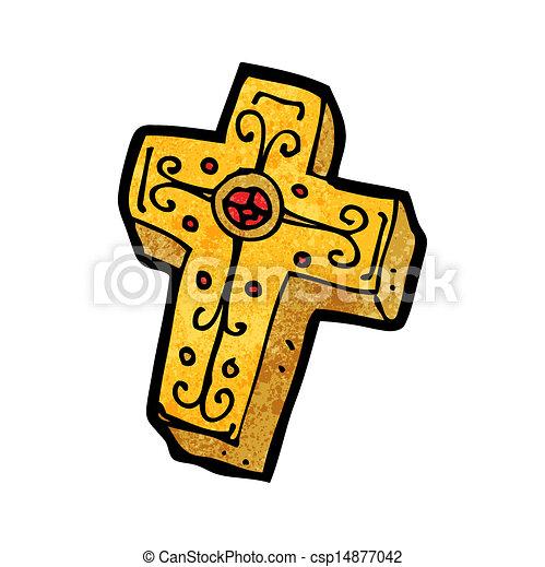 Cross Cartoon Drawing Cartoon Crucifix Cross