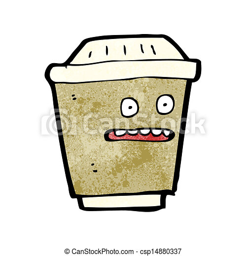 cartoon take out coffee - csp14880337