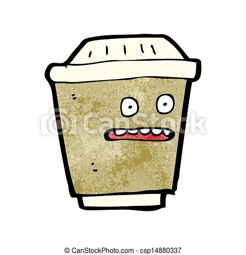 cartoon take out coffee - csp14880337