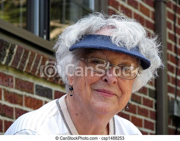 elderly woman - csp1488253