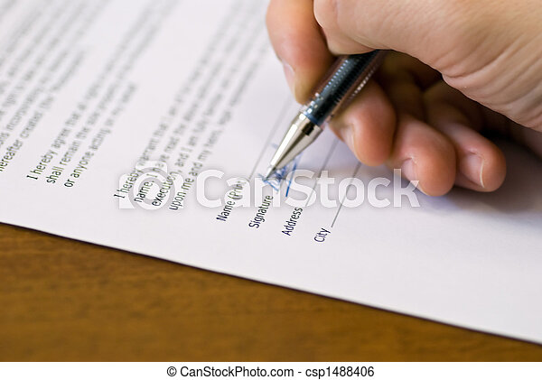 signature on agreement - csp1488406