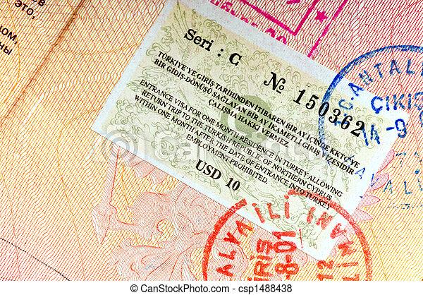 Turkey visa - csp1488438