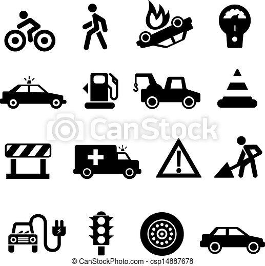 Traffic Icon Traffic Icons Black on White