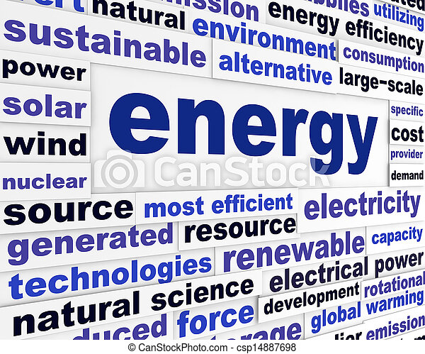 Energy creative words design  - csp14887698