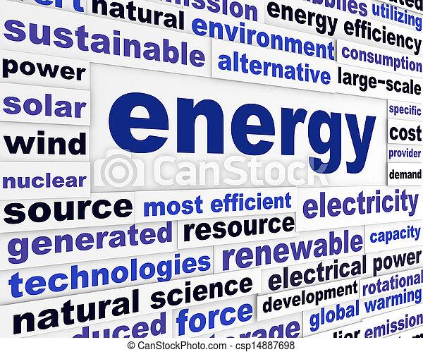 Energy creative words design  - csp14887698