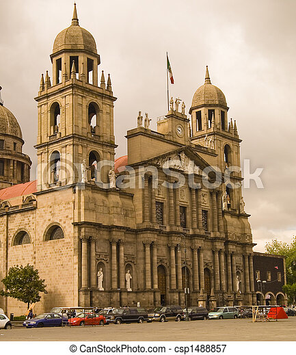 Church in Toluca Mexico - csp1488857