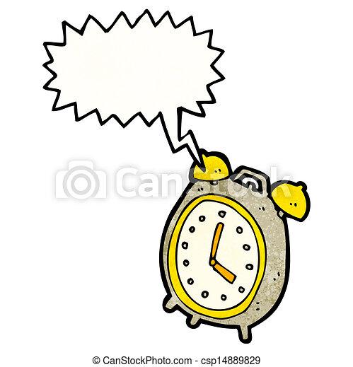 Vector Illustration of ringing alarm clock cartoon ...