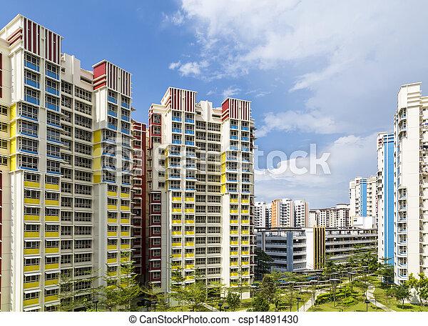 color residential estate - csp14891430