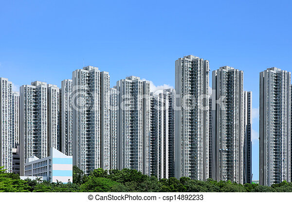 Residential building in Hong Kong - csp14892233