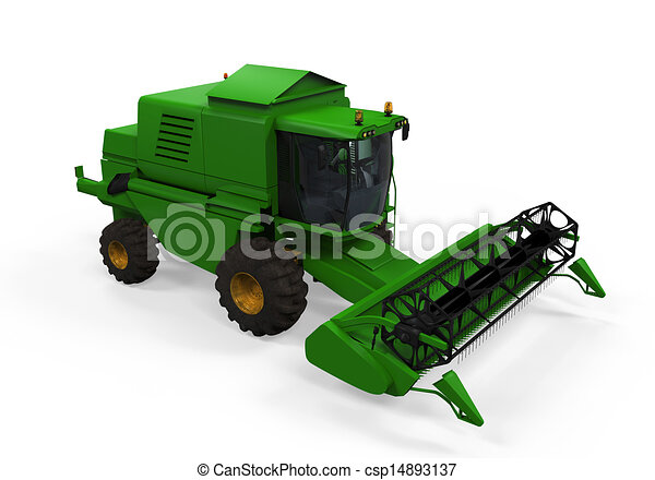 Drawings of Combine Harvester Isolated - Combine Harvester ...