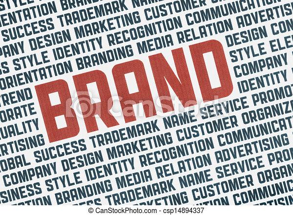 Brand illustration concept - csp14894337