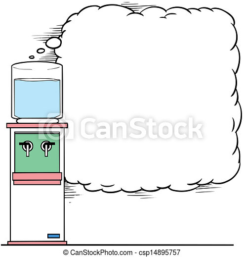 Clipart Vector of water cooler vector illustration csp14895757 ...