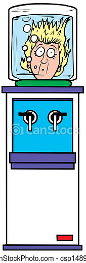 Clip Art Vector of water cooler vector illustration csp14895767 ...