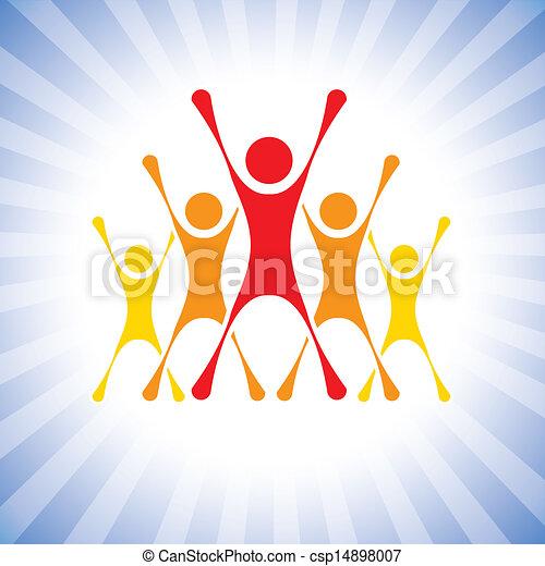 Team Achievement Clipart Vector Team of Achievers