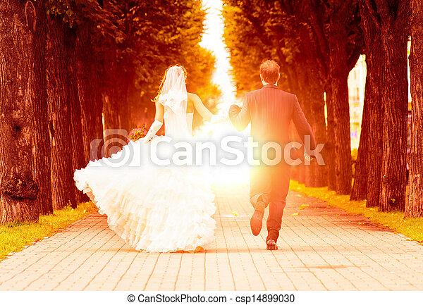 wedding sunset - csp14899030