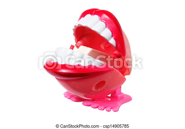 Pictures of Chattering Teeth on White Background ...