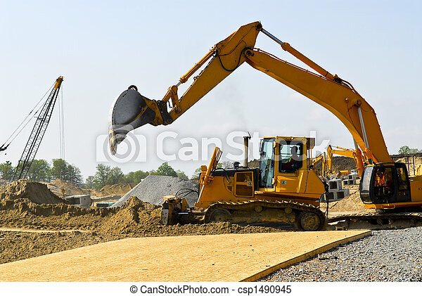 Construction site machines - csp1490945