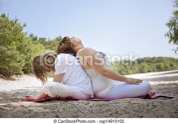 Yoga in nature  - csp14910102