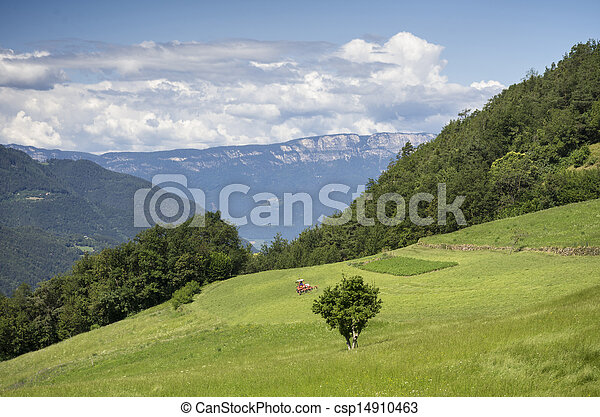 Rural Landscape in South Tyrol (Bolzano) - csp14910463