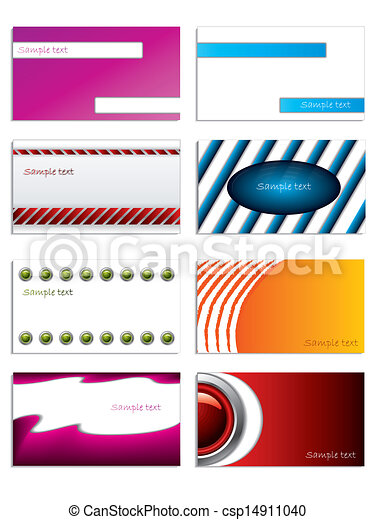 Set of 8 business cards  - csp14911040