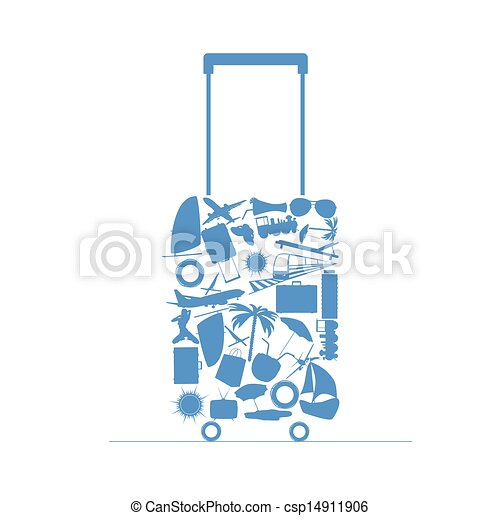 Vector Clipart of travel bag vector illustration csp14911906 ...